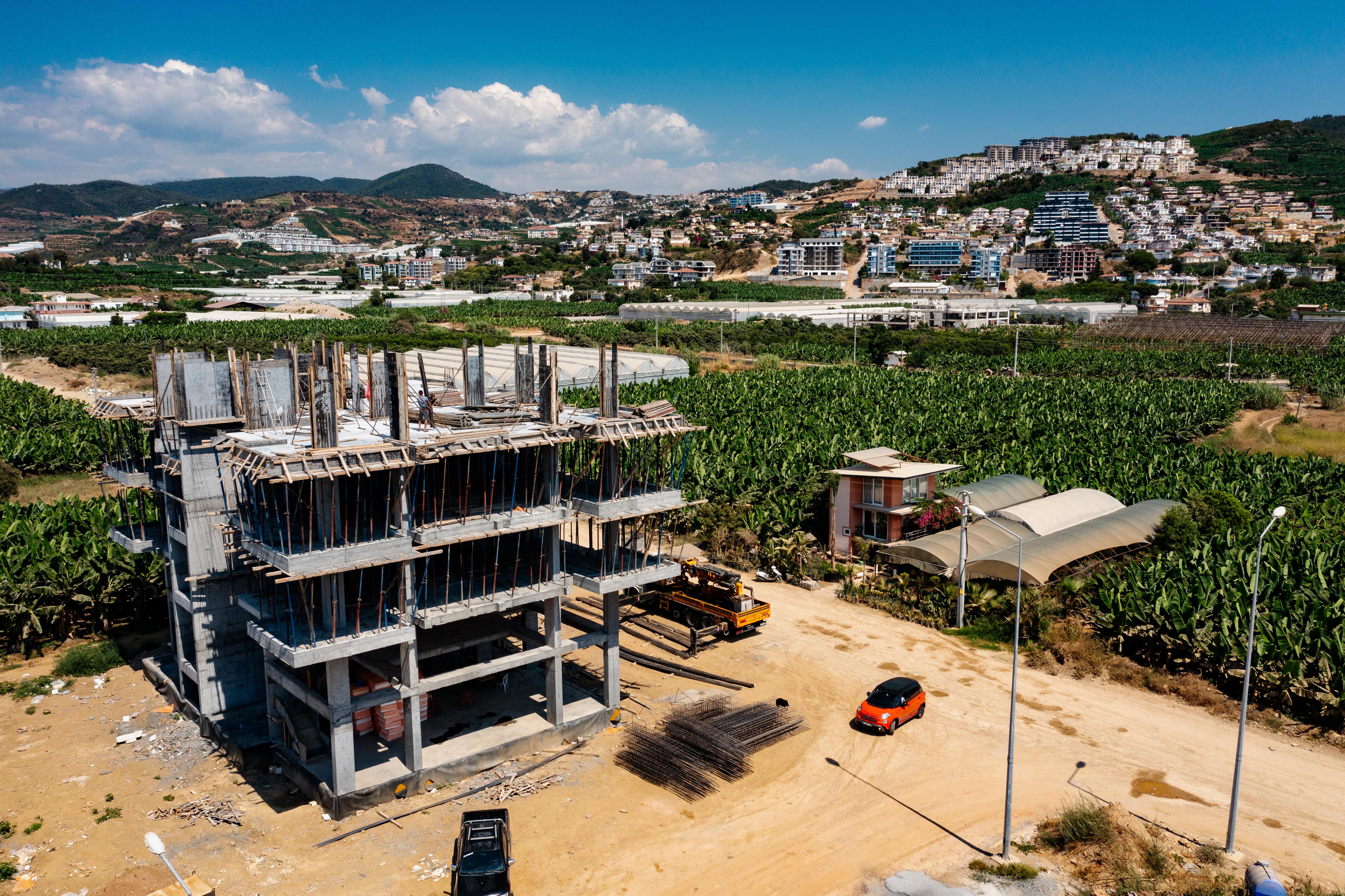 Строительство ЖК YAPARLI FAMILY отчет за июль